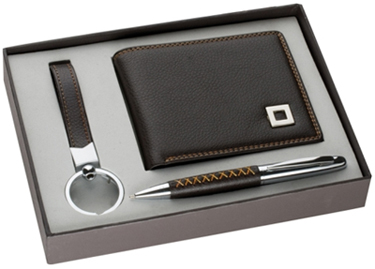 Personalized gift ideas such as wallet, pen and watch