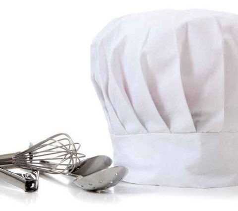 FG-160 White Cotton Chef Cap