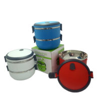 FG-202B 2 Tier Stainless Steel Lunch Box
