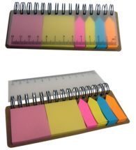 FG-205 Recycled wire 'O' Post It Pad With Ruler