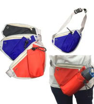 FG-359 Triangular Waist Pouch with zip & bottle compartment