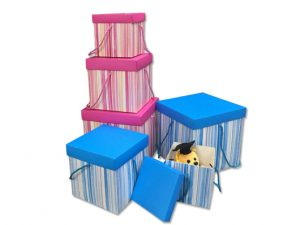 FG 383 300x225 - FG-383   Decorative Paper Storage Box with Lid & String Handles