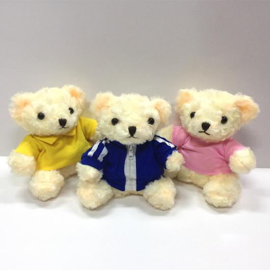 FG-800 17cm Light Brown Fury Teddy Bear with round neck shirt