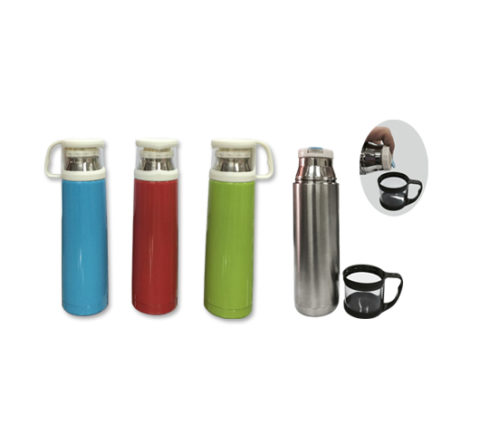 FG-808 500ml Stainless Steel Vacuum Flask with Cup Lid