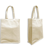 FG-809 Cream Cotton Canvas Tote Bag (Size: 29 x 38 x 10cm)