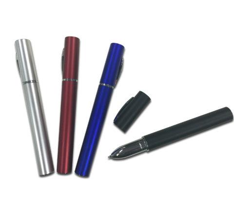 FG-825 Metallic Plastic Pen with Cap - Ink Black