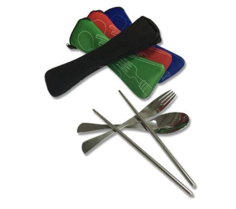 FG-843 Cutlery Set In Pouch (20.5cmx6.3cm)